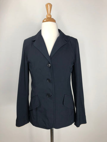 Charles Ancona Kid's Classic Show Jacket in Navy -  Front View