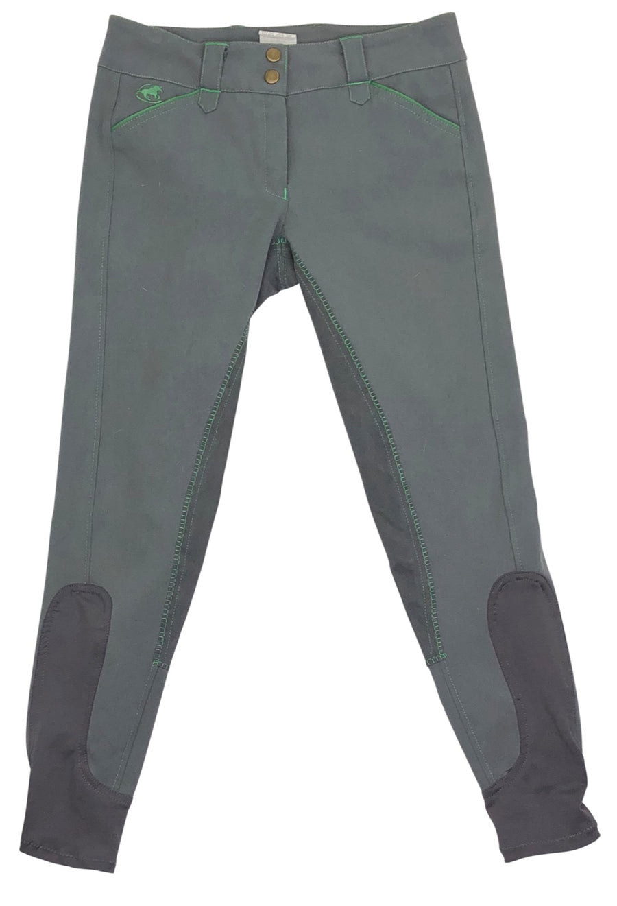 SmartPak Piper Full Seat Breeches in Charcoal and Sage