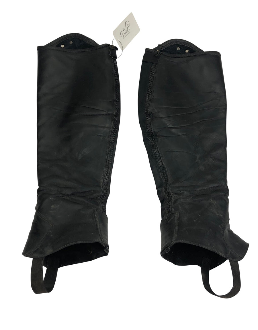 Inside of Parlanti Half Chaps in Black