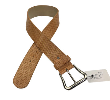 Tailored Sportsman Woven Belt in Beige