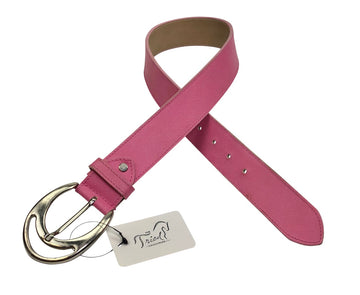 Tailored Sportsman Leather Belt in Pink