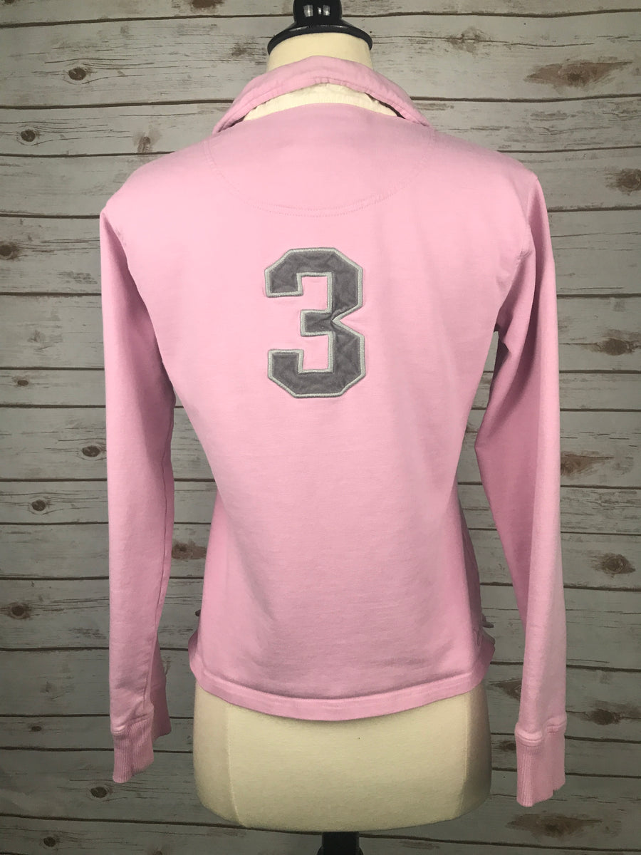 Joules Polo Sweatshirt in Pink -  Back View