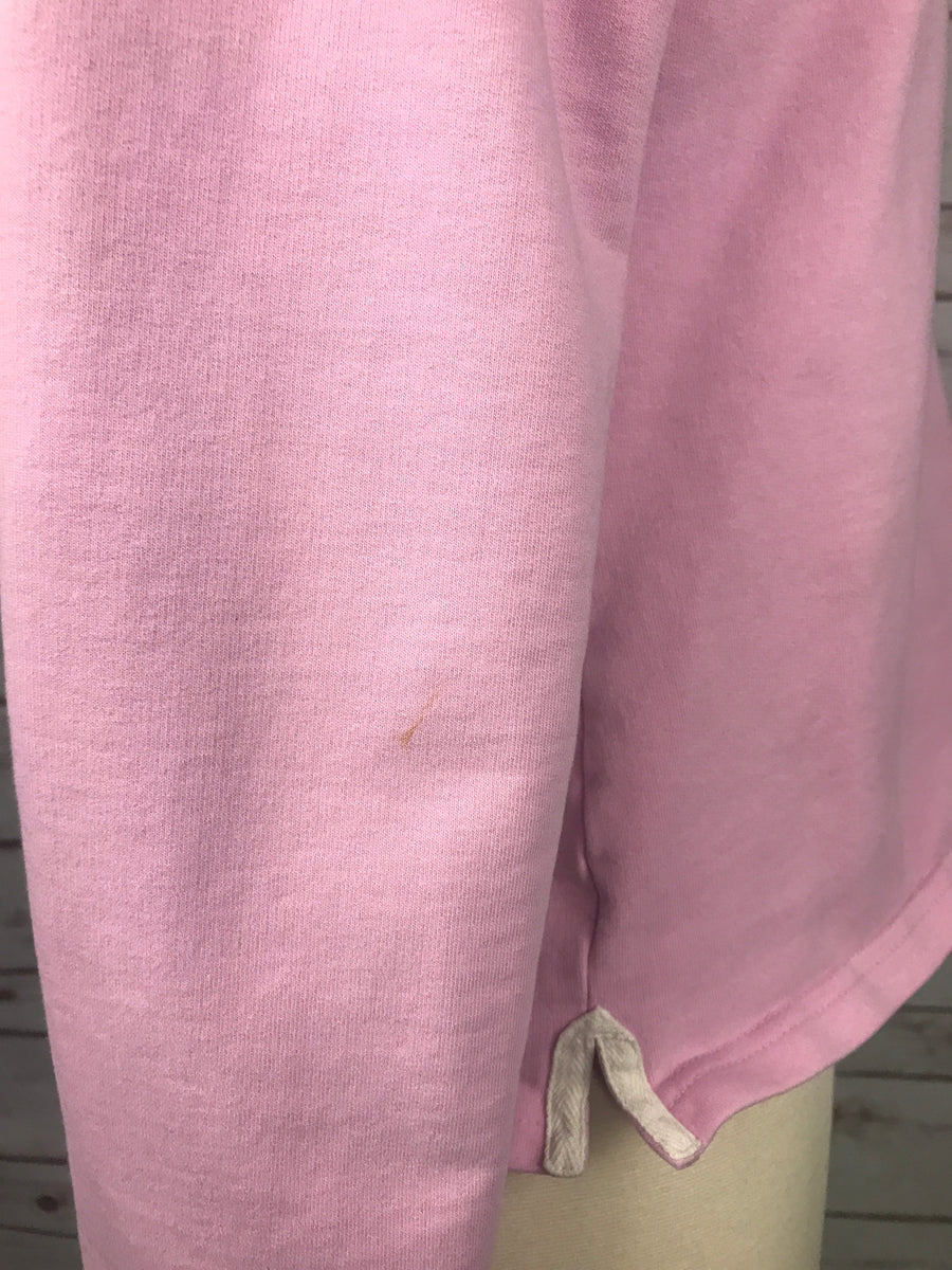 Joules Polo Sweatshirt in Pink -  Close Up View 2