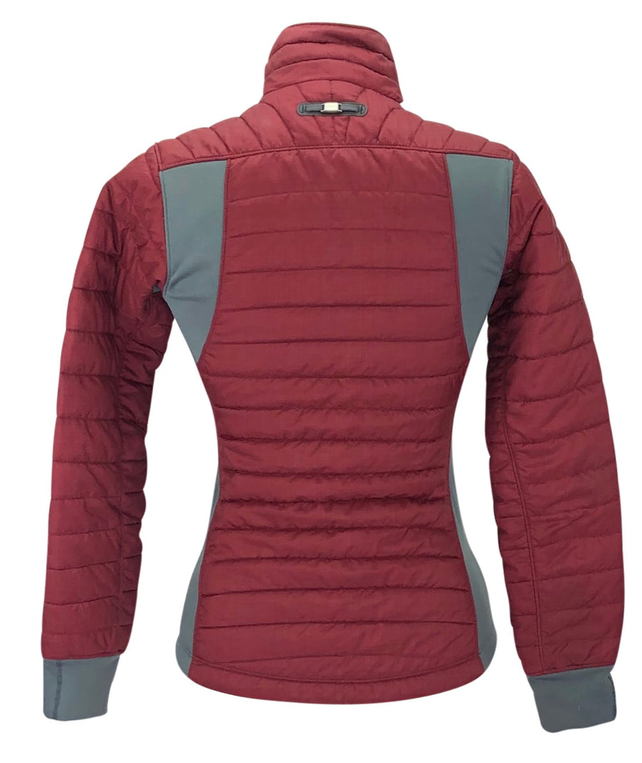 Back of Ariat Down Jacket in Maroon