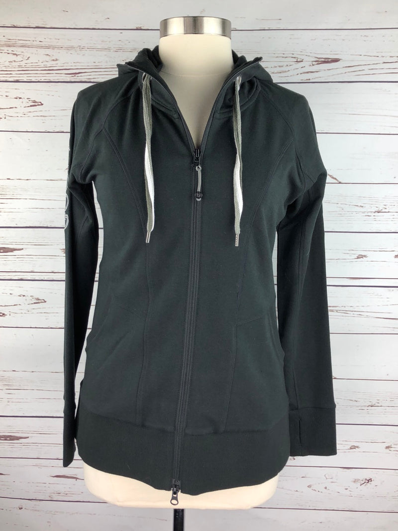 Goode Rider Runaway Zip Hoodie in Black - Women's Large
