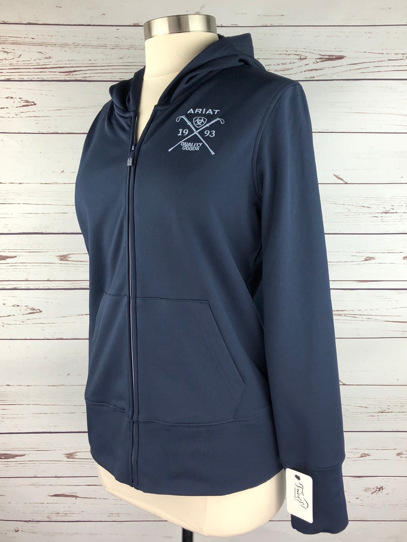 Ariat Milton Zip Hoodie in Navy - Women's Large