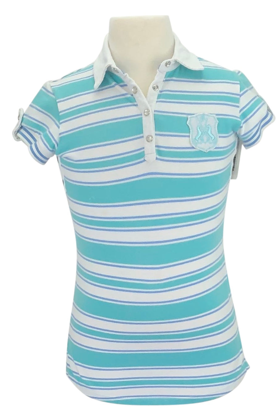 Goode Rider Polo in Blue/White