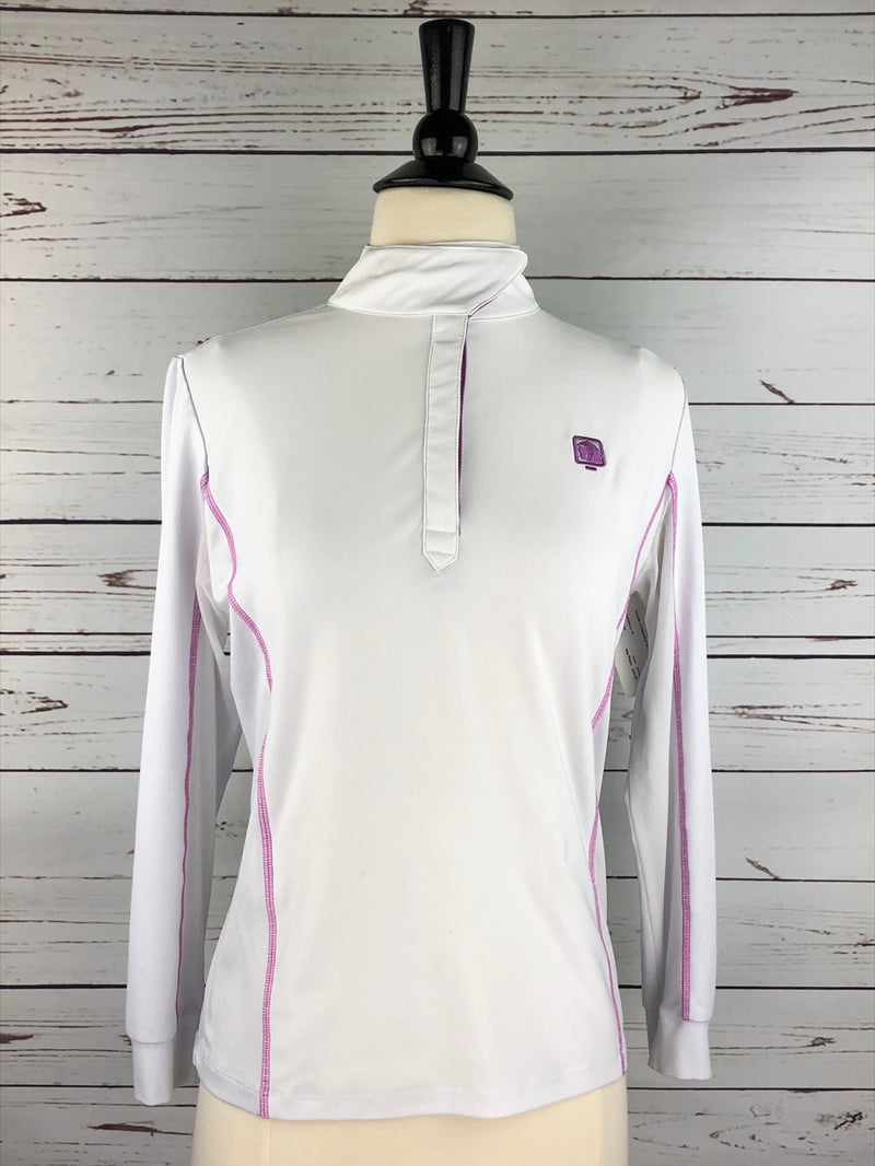 Romfh Competitor Show Shirt in White/Lilac - Children's XL