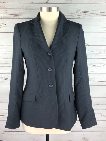 Devon-Aire Concour Elite Hunt Coat in Navy Pinstripe -  Front View
