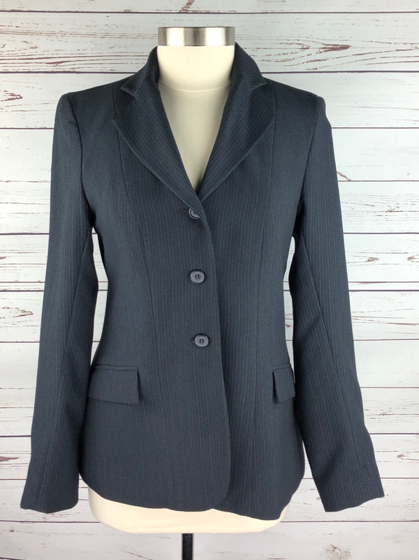 Devon-Aire Concour Elite Hunt Coat in Navy Pinstripe - Women's 14 (US 8)