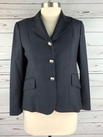 Saltare Hunt Coat in Navy Plaid - Approx. 10S | M
