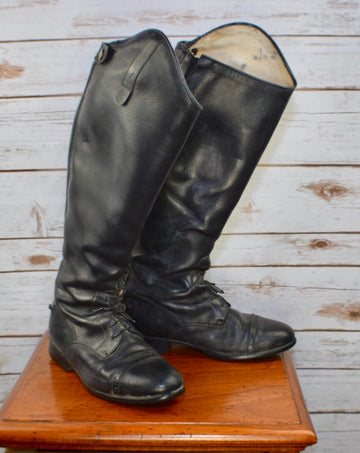 Grand Prix Elite Field Boots in Black - Front View