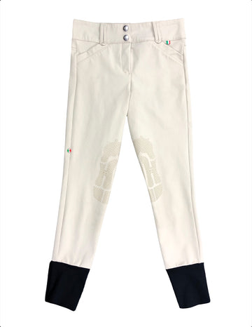 For Horses Junior Breeches in Tan - Children's 12 | M