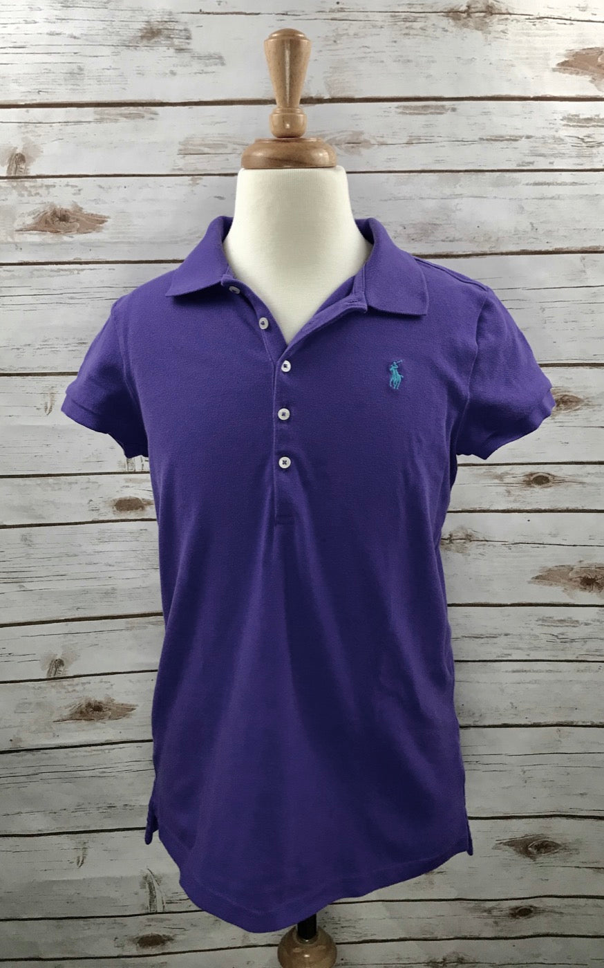 Polo Ralph Lauren Kids Polo in Purple - Front View