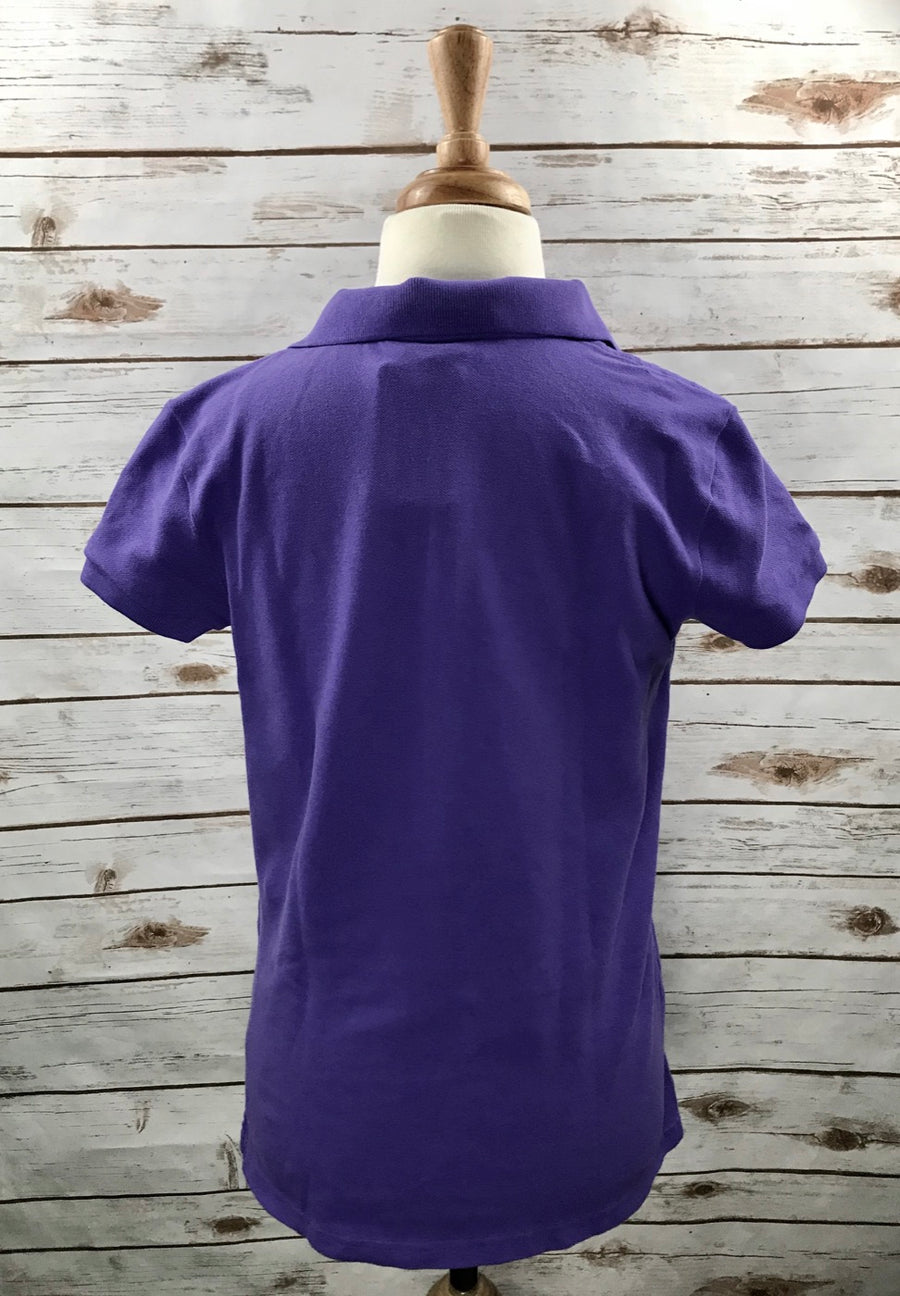 Polo Ralph Lauren Kids Polo in Purple -  Back View
