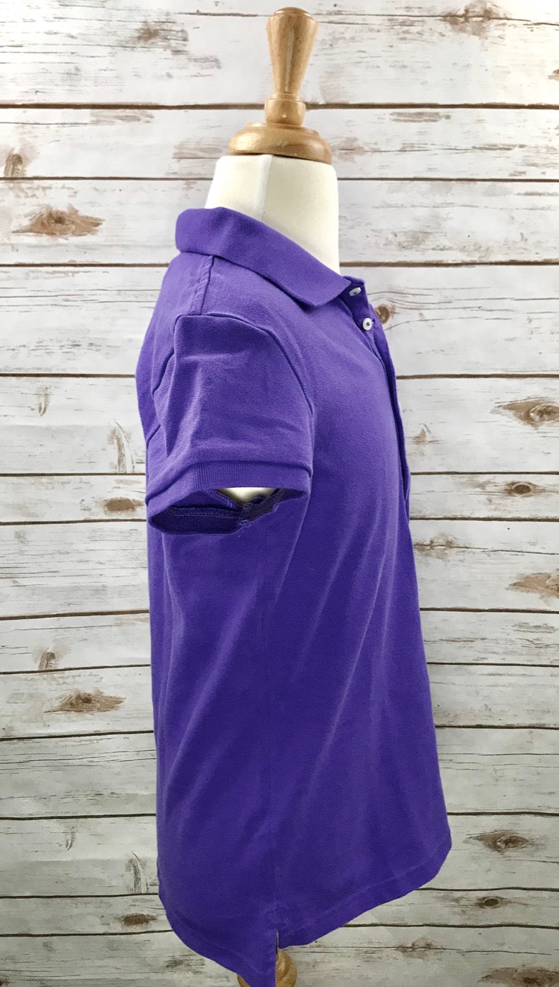 Polo Ralph Lauren Kids Polo in Purple -  Right Side View