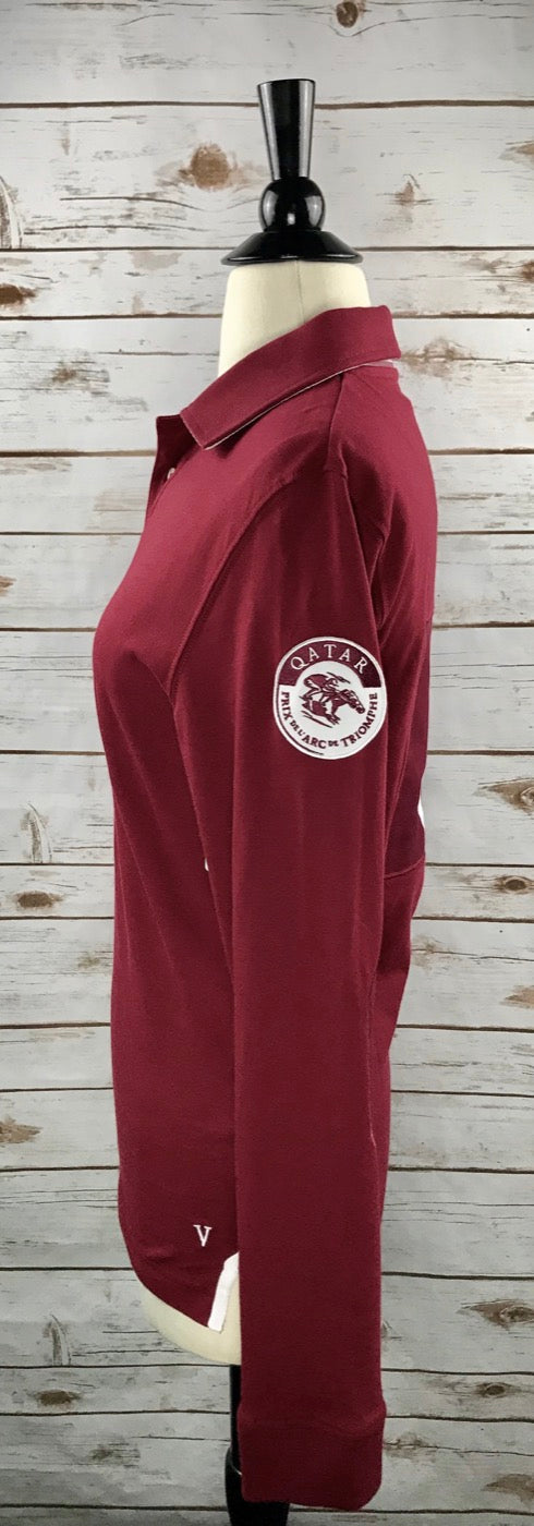 Qatar Arc de Triomphe Polo in Maroon - Women's XS