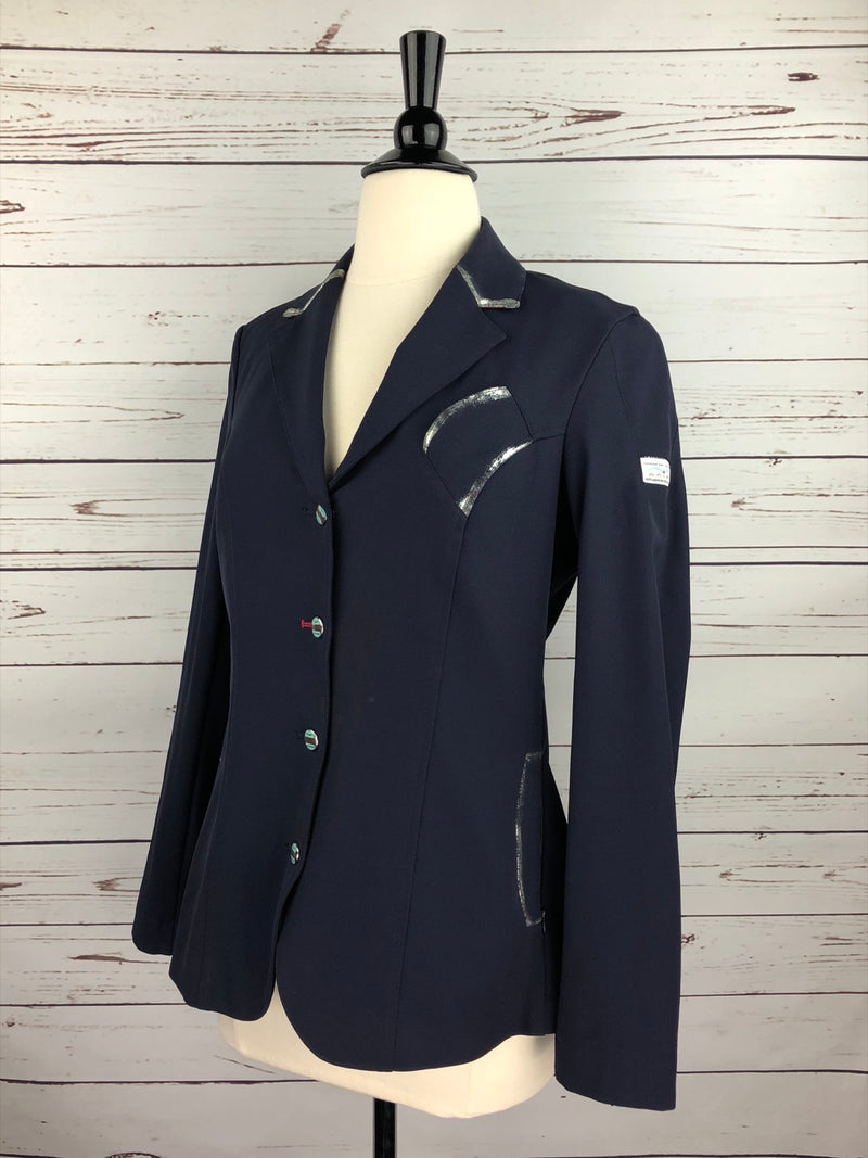 Animo Liang Silver Competition Jacket in Navy - Women's IT 44