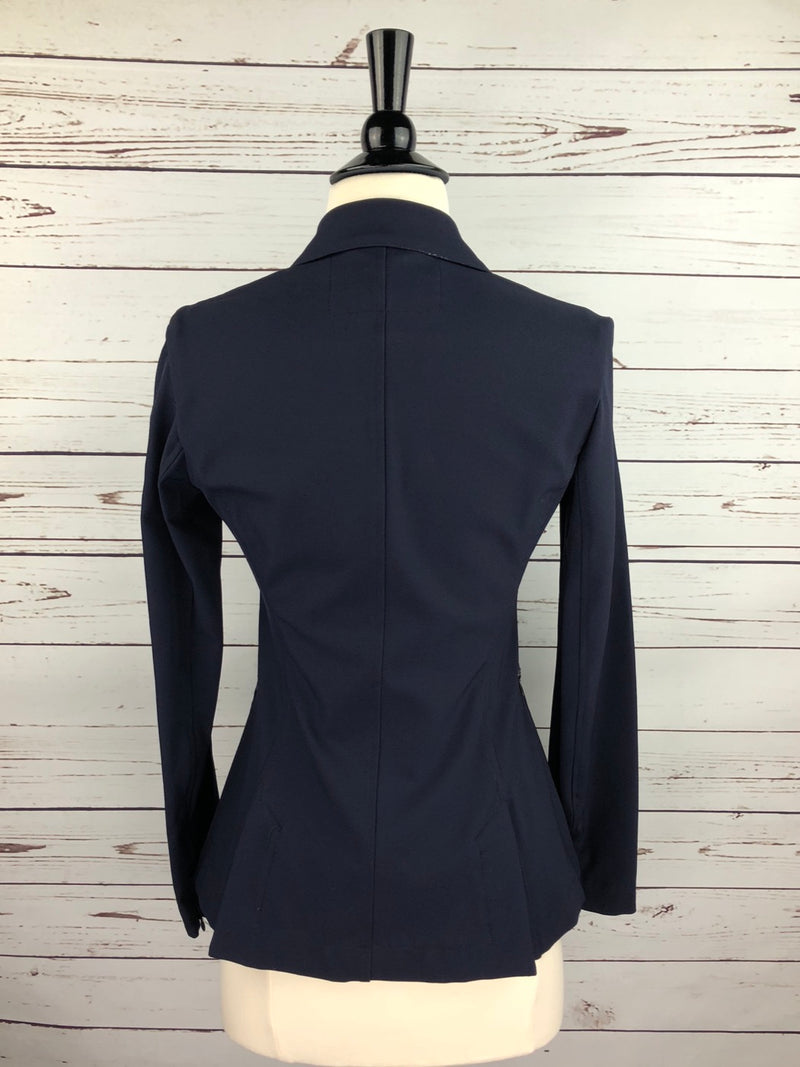Animo Liang Silver Competition Jacket in Navy - Women's IT 40