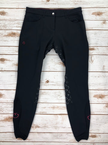 Cavalleria Toscana Full Grip System Breeches in Black -  Front View