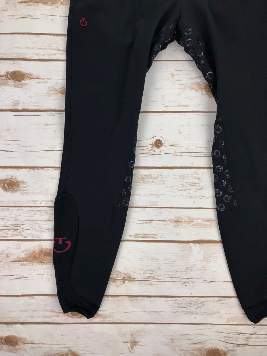 Cavalleria Toscana Full Grip System Breeches in Black -  Leg View