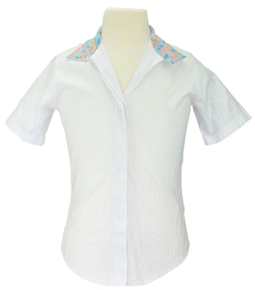Devon-Aire Short Sleeve Show Shirt in White