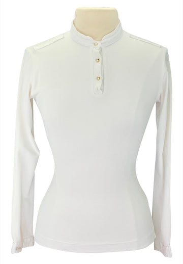 Front of Dada Sport Winningmood Long Sleeve Competition Shirt in White