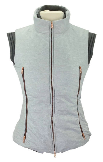 F.Words Florette Gilet Vest in Light Heather Grey