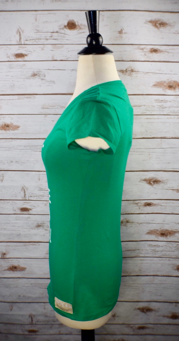 Spiced Equestrian Rise and Fall Tee in Green - Women's Large