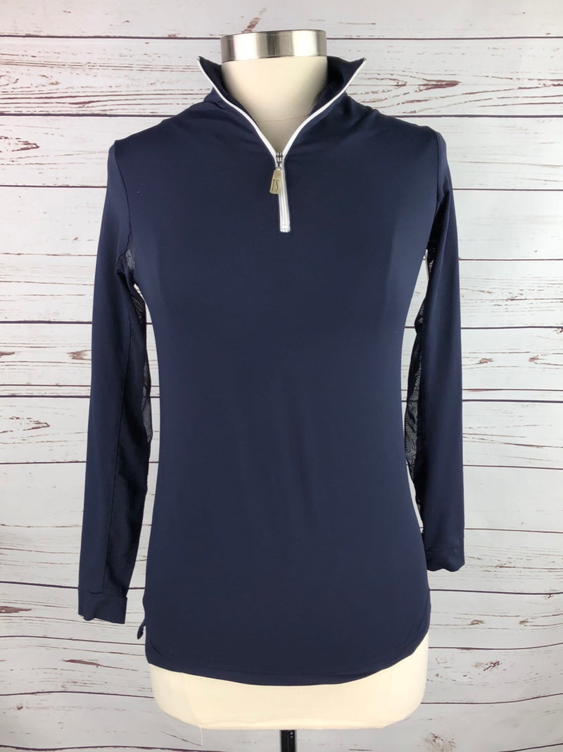 The Tailored Sportsman IceFil Sun Shirt in Navy - Women's Small