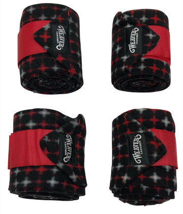 Weaver Polo Leg Wraps in Black/Red Crosses