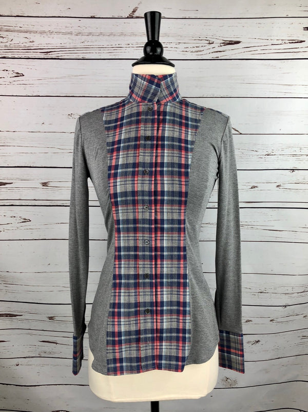 Le Fash Open Placket Shirt in Heather Plaid - Women's XS