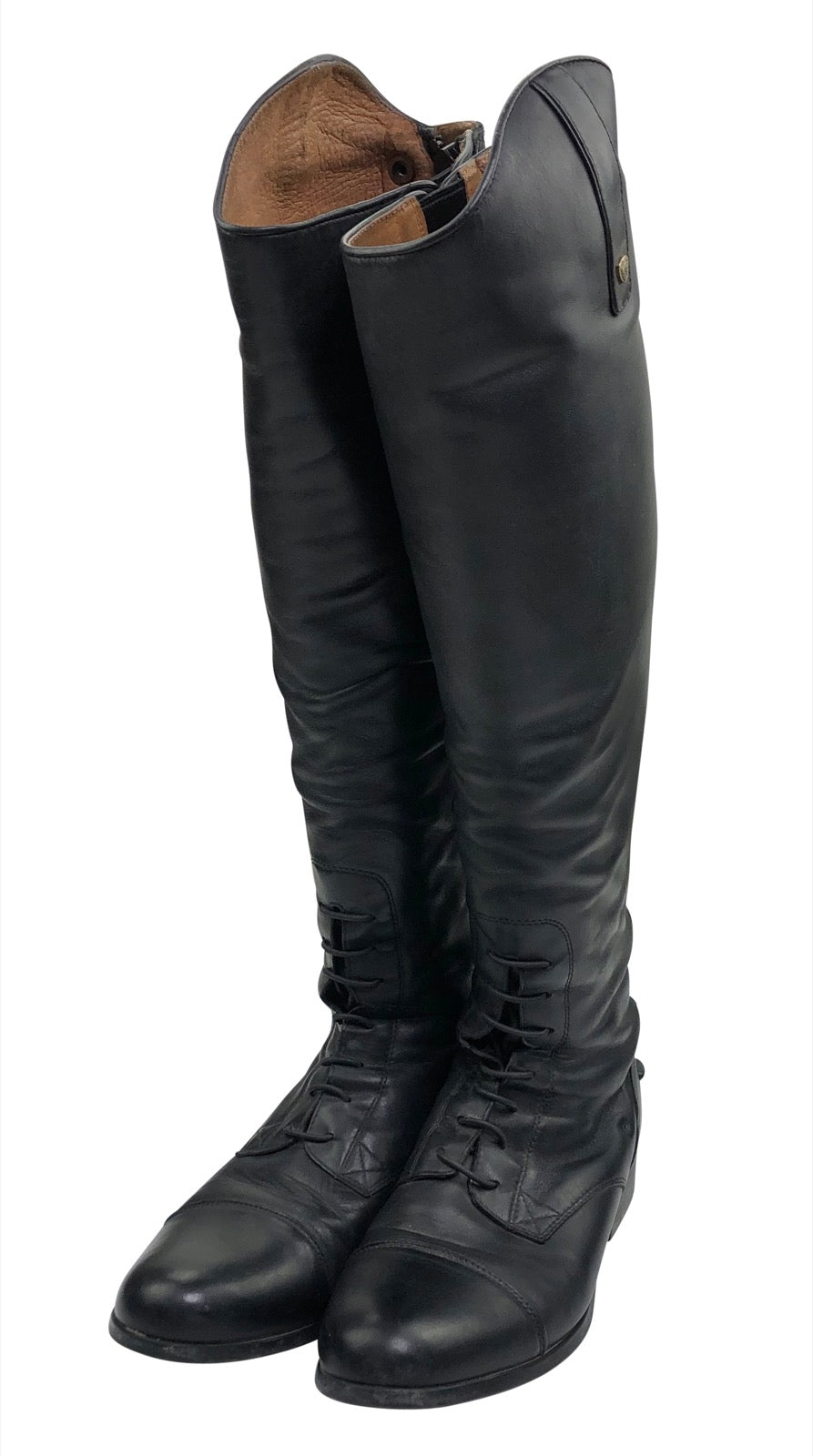 Standing up Ariat Heritage Contour Field Zip Tall Riding Boot in Black