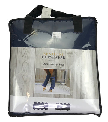 Kentucky Horsewear Stable Bandage Pads in Navy in bag