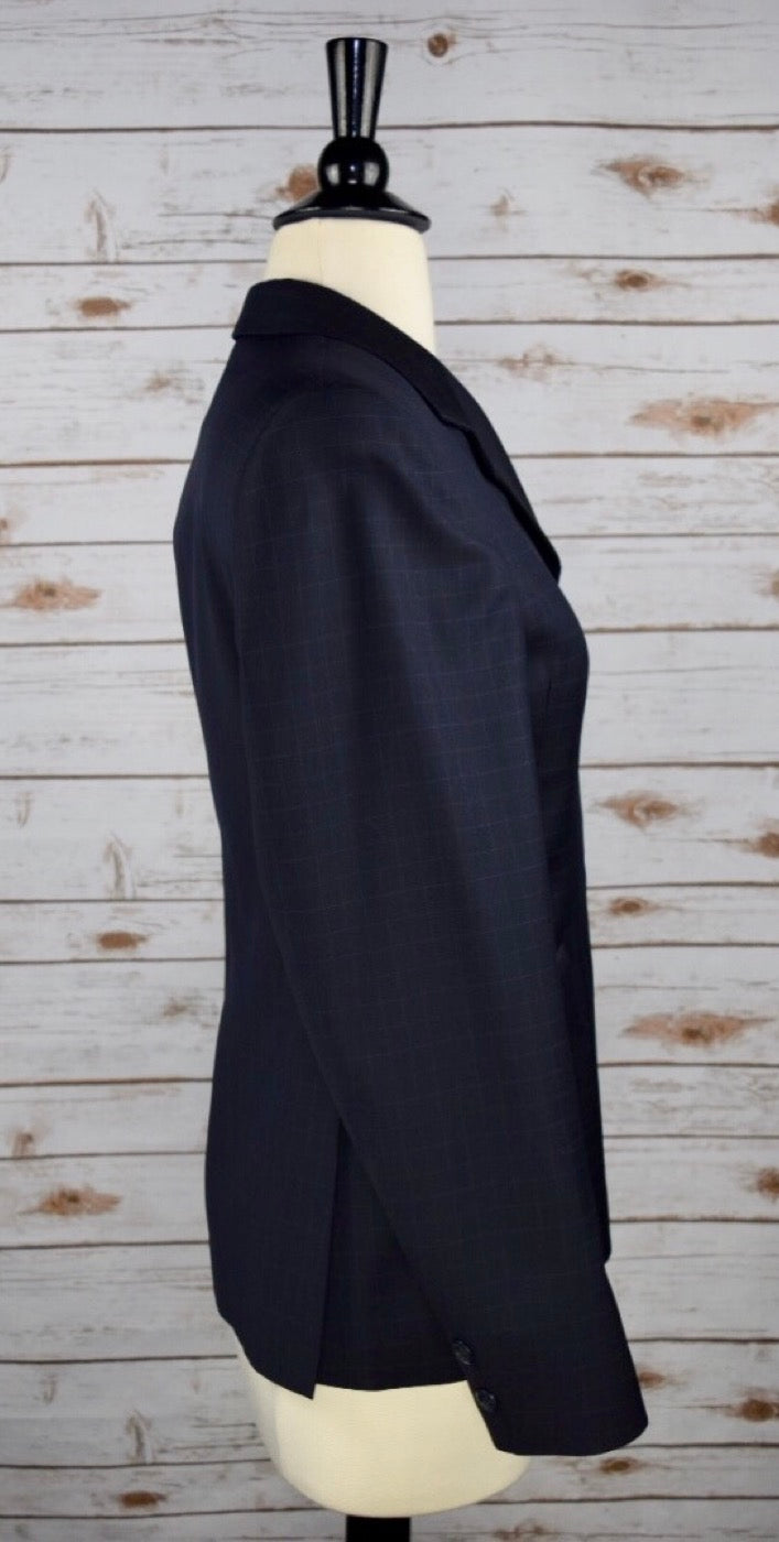 Grand Prix Hunt Coat in Navy Check -Right Side View