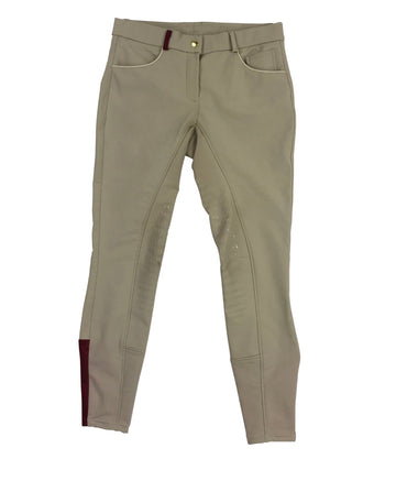 front view of EQUO Tryon Breeches in Tan - Women's 28 | M