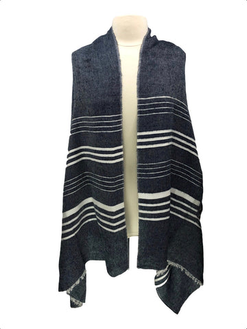 J. Crew Striped Cape-Scarf in Navy - One Size