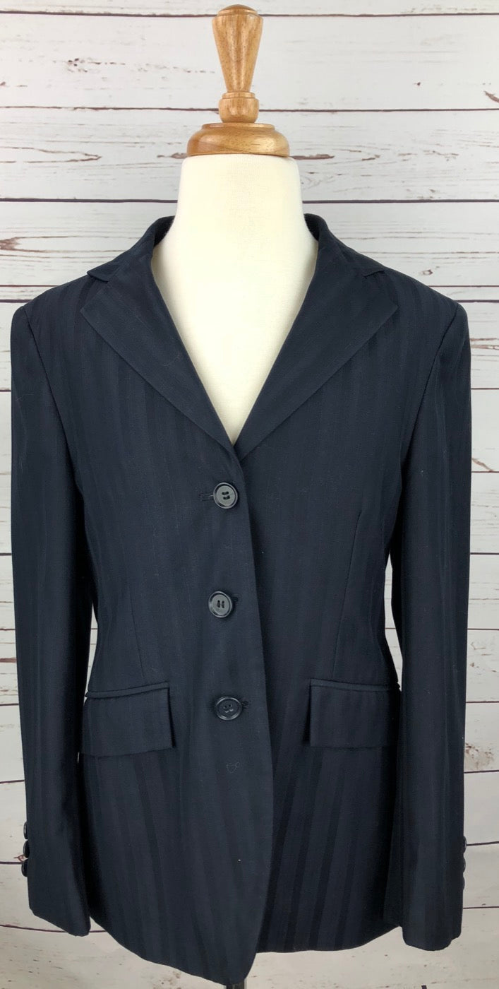 The Wellington Collection Hunt Coat in Navy Pinstripe - Children's 16S