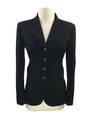 FITS Mesh Combo Show Dressage Jacket in Black - Women's M