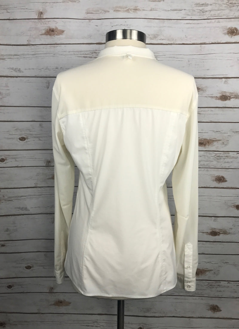 FITS Riding Mesh Show Shirt in Cream - Women's Large