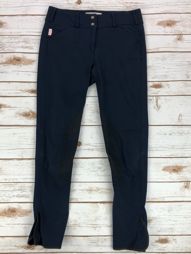 Tailored Sportsman Trophy Hunter Breeches in Black & Blue - Women's 26R