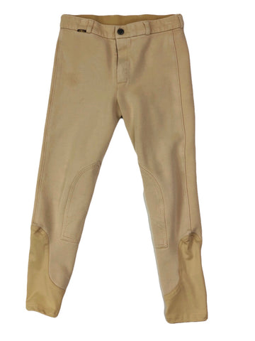 Saxon Adjustable Waist Breeches in Tan - Children's 12