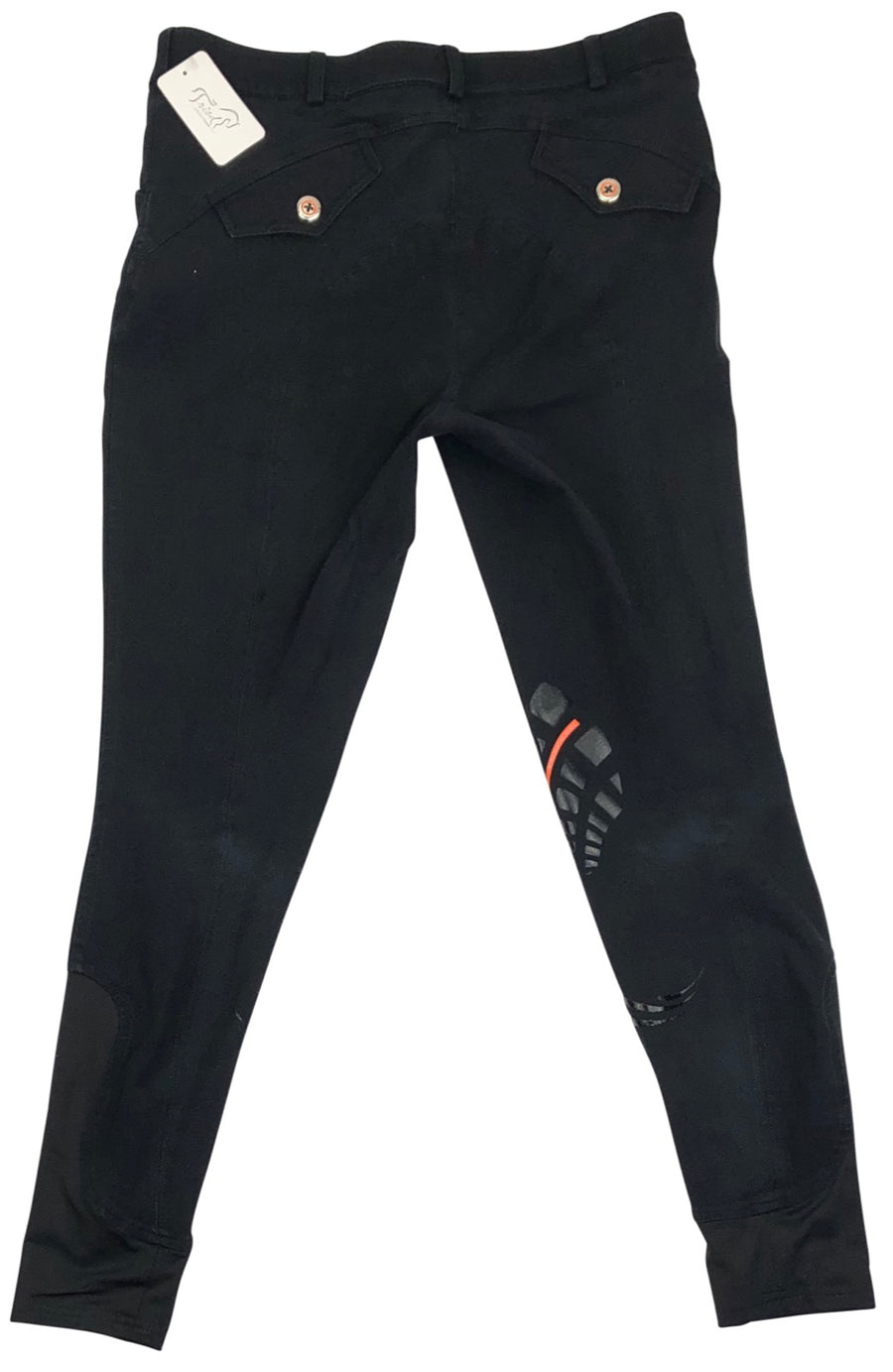Back of Schockemohle Libra Grip Breeches in Black