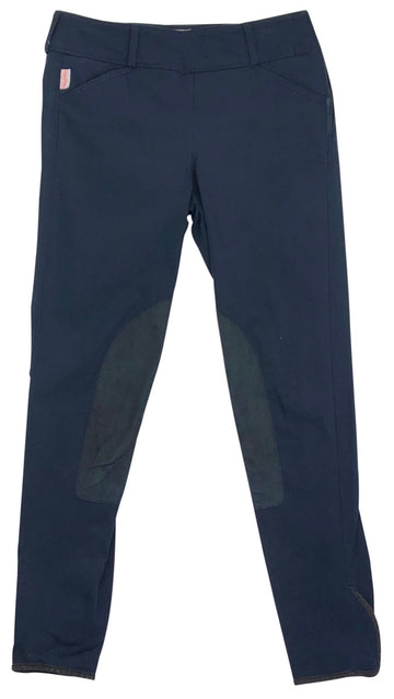 Tailored Sportsman Trophy Hunter Side Zip Breeches in Black & Blue