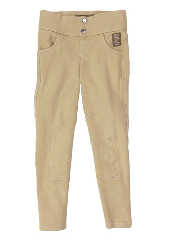 Horze Paige Pull-On Breeches in Tan - Children's S
