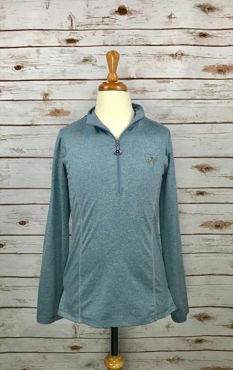 Goode Rider Long Sleeve Ideal Show Shirt in Teal Heather - Children's 16