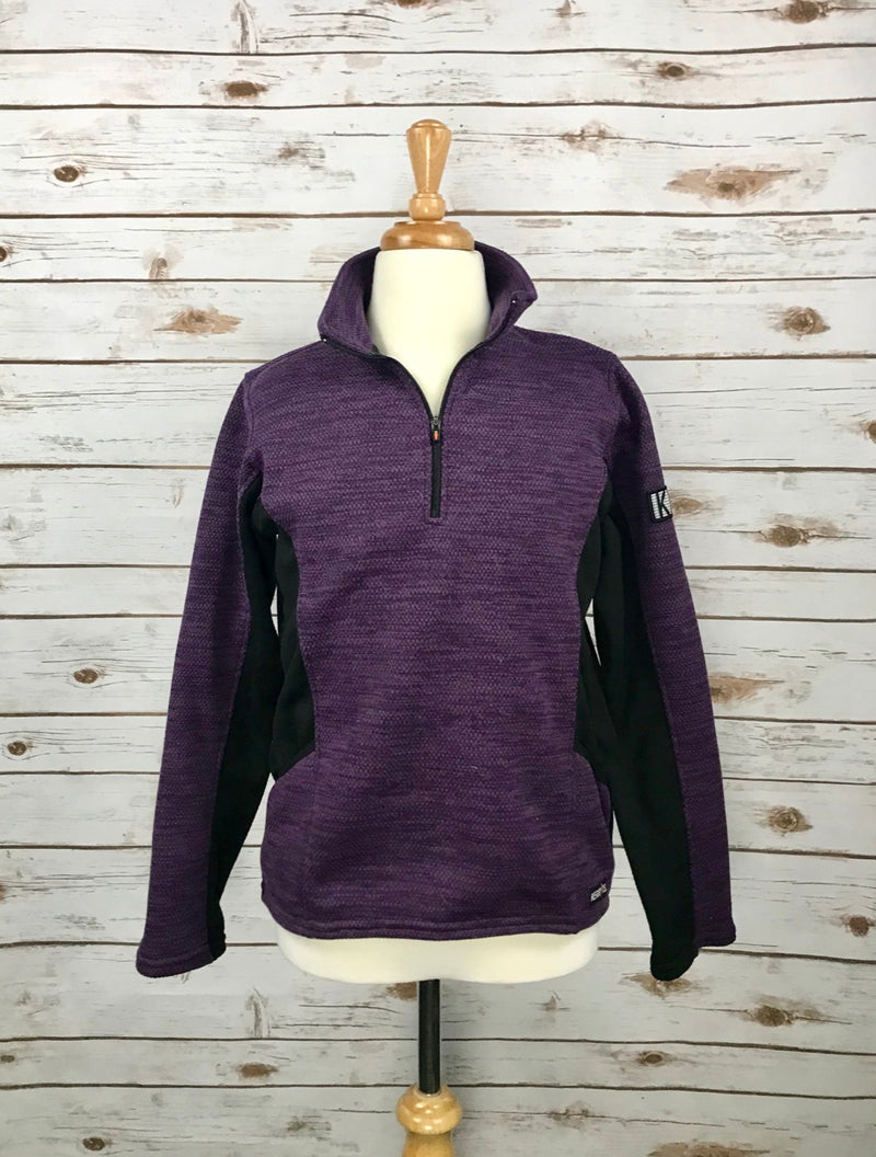 Kerrits Plush Tek Zip Pullover in Purple - Children's XL