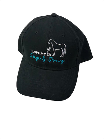 Pup & Pony Co. Ball Cap in Black - One Size