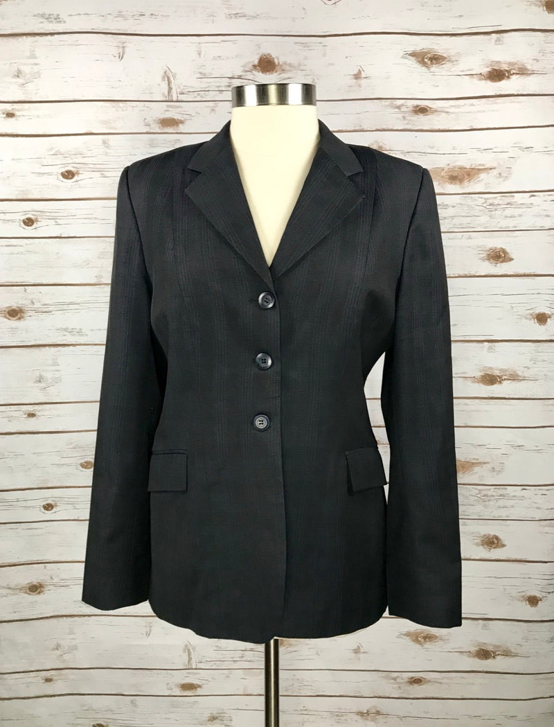 Grand Prix Hunt Coat in Navy Plaid - Women's 16T