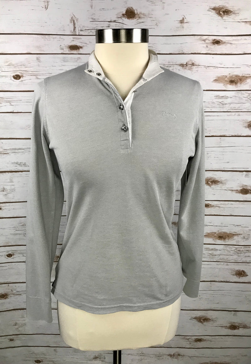 Pikeur Turnier Long Sleeve Show Shirt in Grey - Women's GER 38 (US 10)